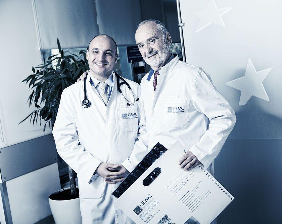Ведущие специалисты центра лучевой терапии ЕМС.