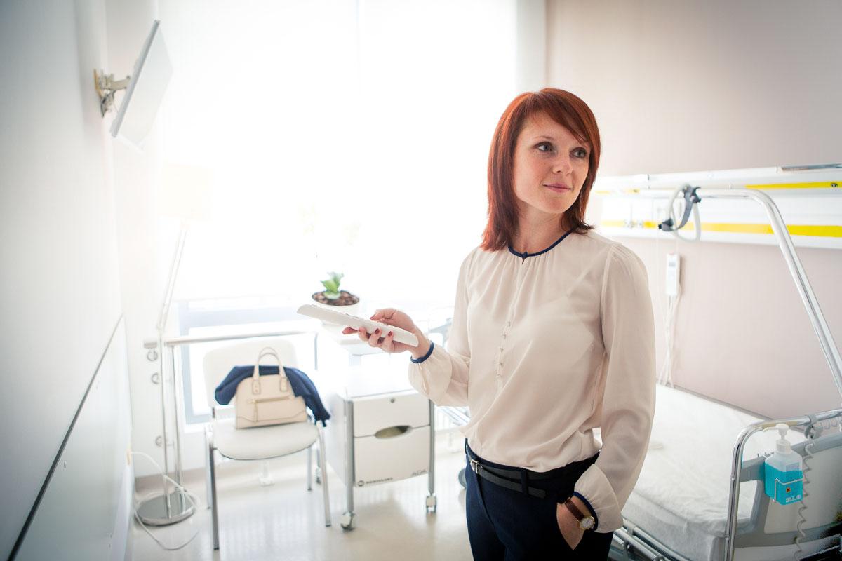 Комфортабельные палаты клиники маммологии ЕМС.