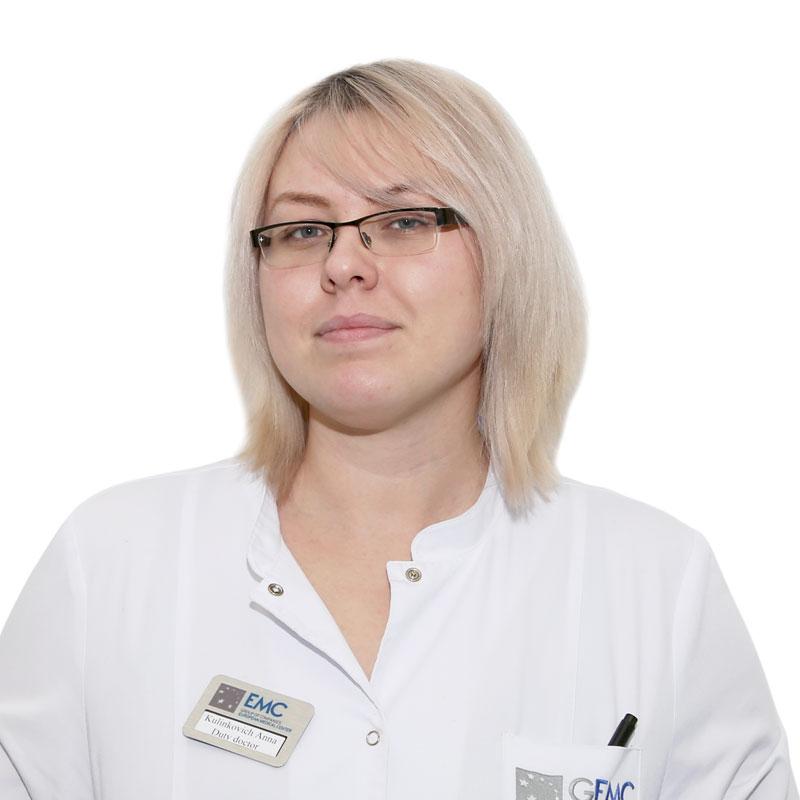 KULINKOVICH Anna, General practitioner, клиника ЕМС Москва